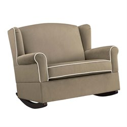 Wingback Rocker in Taupe