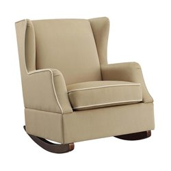 Wingback Rocker in Camel