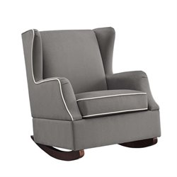 Wingback Rocker in Graphite Gray