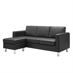 Adjustable Sectional Sofa in Black