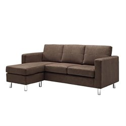 Adjustable Sectional Sofa in Brown