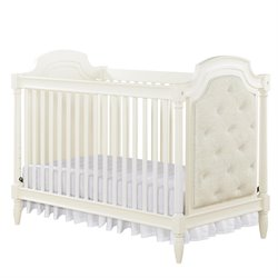 MonBebe Corrine 2-in-1 Convertible Crib in French White