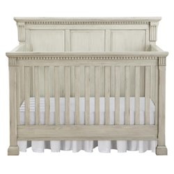 MonBebe Everett 4-in-1 Convertible Crib in Antique Gray