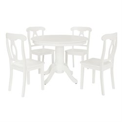 5 Piece Dining Set in White
