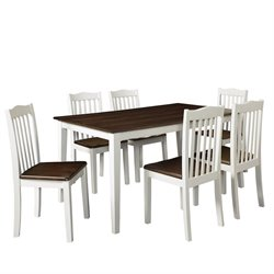 5 Piece Dining Set in Grain and White