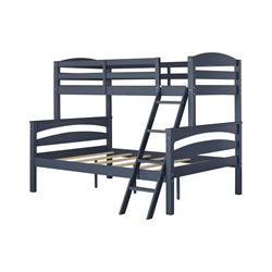 Twin over Full Bunk Bed in Graphite Blue