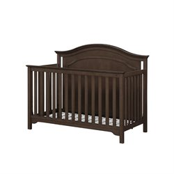 4 in 1 Convertible Crib in Weathered Walnut