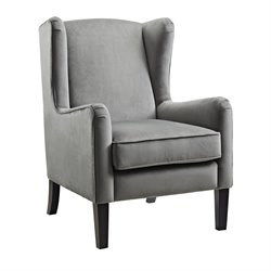 Wingback Accent Chair in Gray