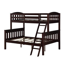 Twin over Full Bunk Bed in Espresso