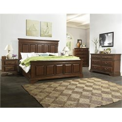 Fine Furnishings 5 Piece King Bedroom Set in Cherry