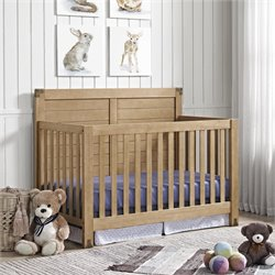 4 in 1 Convertible Crib in Rustic Natural