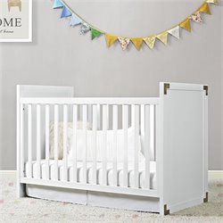 2 in 1 Convertible Crib in Classic White