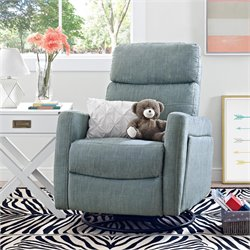 Swivel Gliding Recliner in Dove Gray