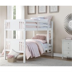 Twin Bunk Bed in White