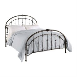 Queen Metal Bed in Antique Pewter