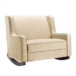Double Nursery Rocker in Beige