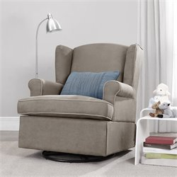 Swivel Nursery Glider in Dark Taupe