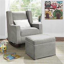 Abby Storage Ottoman in Gray