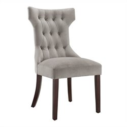Tufted Dining Chair in Taupe (Set of 2)