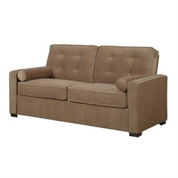 Button Tufted Sofa in Coffee