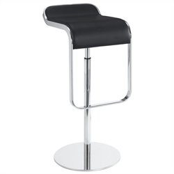 Volo Design Gravity Stool in Polished Steel and Black (Set of 2)