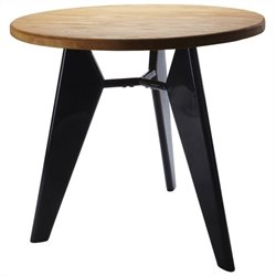 Volo Design Emblem Pub Table in Black and Wood
