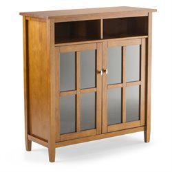 Storage Media Cabinet in Honey Brown