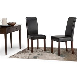 Faux Leather Dining Chair in Black (Set of 2)