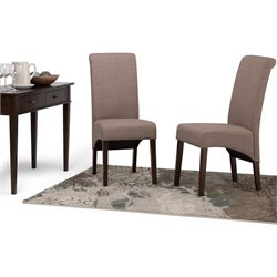 Deluxe Parson Dining Chair in Mocha (Set of 2)
