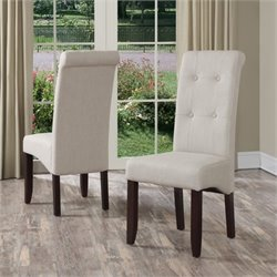 Deluxe Dining Chair in Natural (Set of 2)