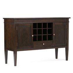 Sideboard and Wine Rack in Tobacco Brown