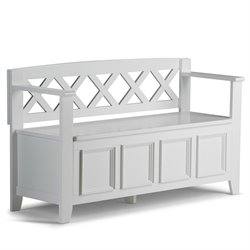 Entryway Storage Bench in White