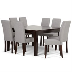 9 Piece Dining Set in Dove Gray