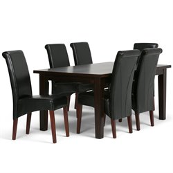 7 Piece Dining Set in Black