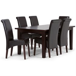 7 Piece Dining Set in Brown