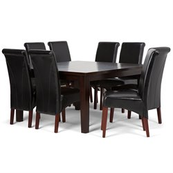 9 Piece Dining Set in Black