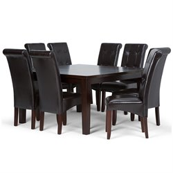 9 Piece Dining Set in Brown