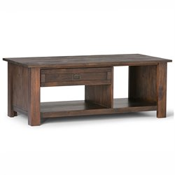 Coffee Table in Distressed Charcoal Brown