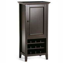 Wine Cabinet in Dark Brown