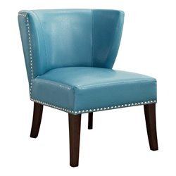 Leather Accent Chair in Blue