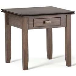 End Table in Natural Aged Brown