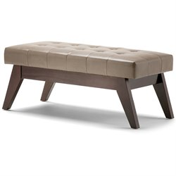Tufted Living Room Bench in Ash Blonde