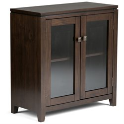 Low Storage Cabinet in Coffee Brown