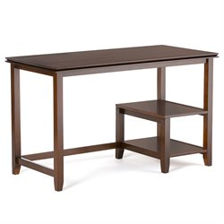 Writing Desk in Medium Auburn Brown