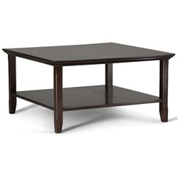 Square Coffee Table in Tobacco Brown