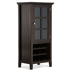 Wine Cabinet in Tobacco Brown