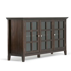 Wide Storage Cabinet in Tobacco Brown