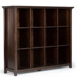 12 Cube Bookcase in Tobacco Brown