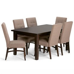 7 Piece Dining Set in Fawn Brown