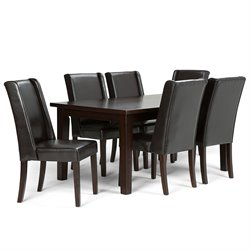 7 Piece Dining Set in Tanners Brown